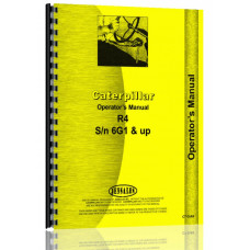 Caterpillar R4 Crawler Operators Manual (SN# 6G1)