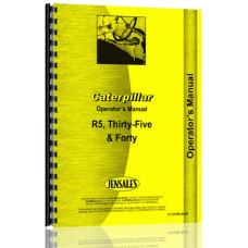 Caterpillar 35 Crawler Operators Manual (S/N 3R, 4H, 5E, 5G) (3R, 4H, 5E, 5G)