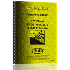 Caterpillar RD7 Crawler Operators Manual