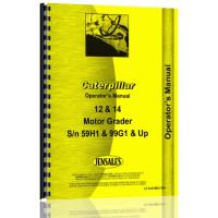 Caterpillar 12 Grader Operators Manual (S/N 59H1 +, 73G1 +)