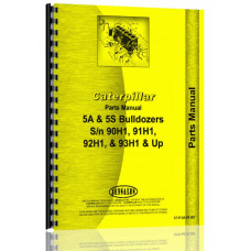 Caterpillar 5A Bulldozer Attachment Parts Manual (SN# 91H1, 93H1 & Up)