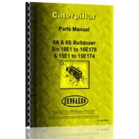 Caterpillar D6 Crawler 6A Bulldozer Attachment Parts Manual (SN# 16E1-16E178)