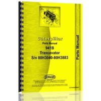 Caterpillar 941B Traxcavator Parts Manual (S/N 80H3040-80H3883) (80H3040-80H3883)