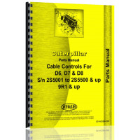 Caterpillar D8 Cable Controls Parts Manual (S/N 2S5001-2S5500,9R1 +) (9R1+)