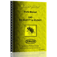 Caterpillar D4D Crawler Parts Manual (S/N 83J2177-83J3421) (83J2177-83J3421)