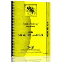 Caterpillar D4D Crawler Parts Manual (S/N 84J1525-84J1929) (84J1525)