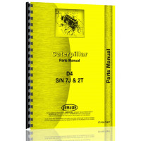 Caterpillar D4 Crawler Parts Manual (S/N 2T1-2T9999, 7J5104-7J9999) (2T1-2T9999)