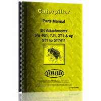 Caterpillar D4 Crawler Parts Manual (S/N 2T1-2T9999, 4G1-4G9999, 5T1-5T7411, 7J1-7J9999) (Attachment)