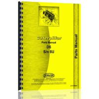 Caterpillar D6 Crawler Parts Manual (S/N 8U6444+) (8U6444+)
