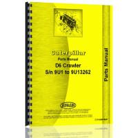 Caterpillar D6 Crawler Parts Manual (S/N 9U1 to 13262) (9U1-13262)