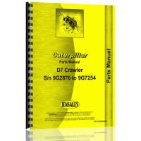 Caterpillar D7 Crawler Parts Manual (SN# 9G2876-9G7254) (D7Crwlr)