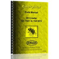 Caterpillar D8 Crawler Parts Manual (S/N 15A1-15A1672) (15A1-15A1672)