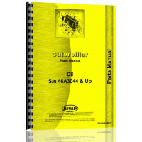 Caterpillar D8 Crawler Parts Manual (S/N 46A3044-46A10724) (46A3044-46A10724)