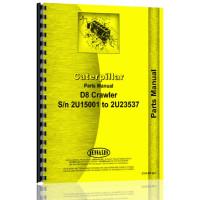 Caterpillar D8 Crawler Parts Manual (SN# 2U9662-15000)