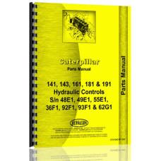 Caterpillar 181 Hydraulic Control Attachment Parts Manual (SN# 48E1, 49E1, 55E1, 36F1, 92F1, 93F1, 2G1 & Up)