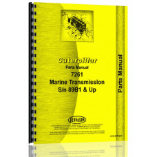 Caterpillar 7261 Marine Transmission Parts Manual (SN# 89B1 & Up)