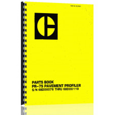 Caterpillar PR-75 Pavement Profiler Parts Manual (S/N 6BD1-6BD119) (6BD1-6BD119)