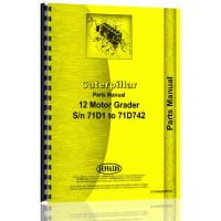 Caterpillar 12 Grader Parts Manual (S/N 71D1-71D742) (71D1)