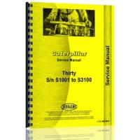 Caterpillar 30 Crawler Service Manual (S/N S1001,S3100)