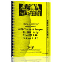 Caterpillar 613B Tractor Scraper Service Manual (SN# 72M4268 and Up, 38W1 and Up) (72M4268+)