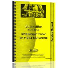 Caterpillar 631B Tractor Scraper Service Manual (S/N 11G, 28F +)