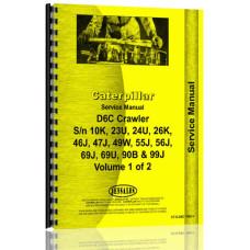 Caterpillar D6C Crawler Service Manual (SN# 10K1 & Up, 23U1 & Up, 24U1 & Up, 26U1 & Up, 46J1 & Up, 47J1 & Up, 49W1 & Up, 55J1 & Up, 69J1 & Up, 69U1 & Up, 90B1 & Up, 99J1 & Up)