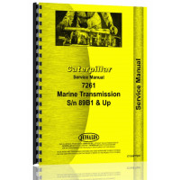 Caterpillar 7261 Marine Transmission Service Manual (SN# 89B1 & Up)