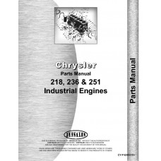 Chrysler 218F Engine Parts Manual