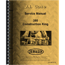 Case 380 Industrial Tractor Service Manual