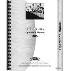 Case 385 Tractor Operators Manual
