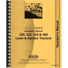 Case 224 Lawn & Garden Tractor Operators Manual
