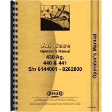 Case 440 Tractor Operators Manual (SN# 6144001-8262800)