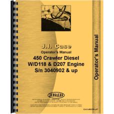 Case 450 Crawler Operators Manual (SN# 3040902 and Up) (3040902+)