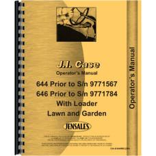 Case 644 Lawn & Garden Tractor Operators Manual