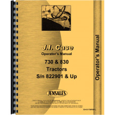 Case 830 Tractor Operators Manual (SN# 8229001 & up) (8229001+)