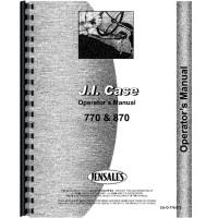 Case 870 Tractor Operators Manual