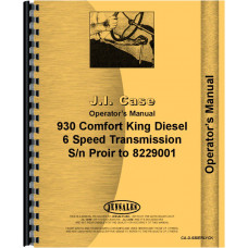 Case 930 Tractor Operators Manual (SN# Prior to 8229001) (Comfort King)