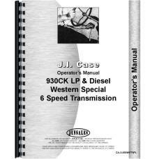 Case 930 Tractor Operators Manual