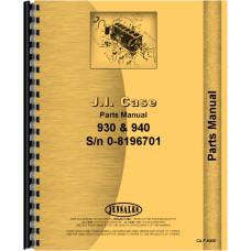 Case 940 Tractor Parts Manual (Prior to 8196701)
