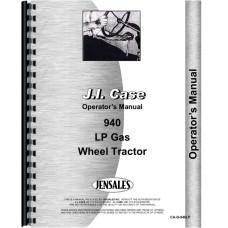Case 940 Tractor Operators Manual