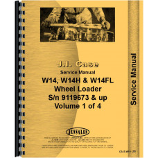 Case W14 Wheel Loader Service Manual (SN# 9119673 and UP) (9119673+)