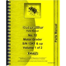 Caterpillar 12F Grader Parts Manual (SN# 13K1-13K5286,33K1 and Up, 33K1 and Up)