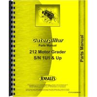 Caterpillar 212 Grader Parts Manual (SN# 1U1 & Up) (1U1+)