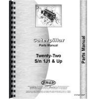 Caterpillar 22 Crawler Parts Manual (SN# 1J1 and Up) (1J1+)