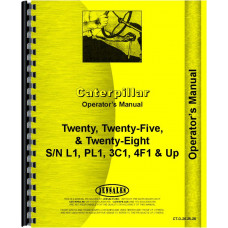 Caterpillar 25 Crawler Operators Manual (SN# 3C1 and Up)