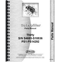 Caterpillar 30 Crawler Parts Manual (SN# S4683-S10536, PS1-PS14292) (S4683-S10536 and PS1-PS14292)