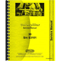 Caterpillar 30 Crawler Service Manual (SN# S3101, PS1) (S3101 and PS1)