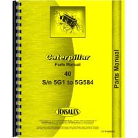 Caterpillar 40 Crawler Parts Manual (SN# 5G1-5G584) (5G1-5G584)