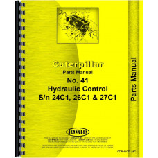 Caterpillar 41 Hydraulic Control Attachment Parts Manual (SN# 24C1, 26C1, 27C1 and Up)