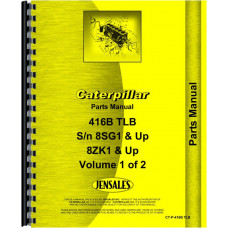 Caterpillar 416B Tractor Loader Backhoe Parts Manual (SN# 8SG1 & up, 8ZK1 & up)